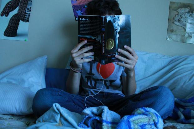in a book